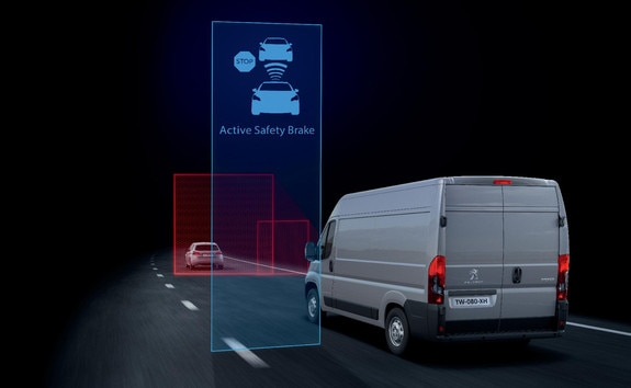 The Active Safety Brake is an automatic emergency braking system if an imminent collision is detected. If the driver then fails to brake or if the braking is insufficient, the system applies the brakes on behalf of the driver.