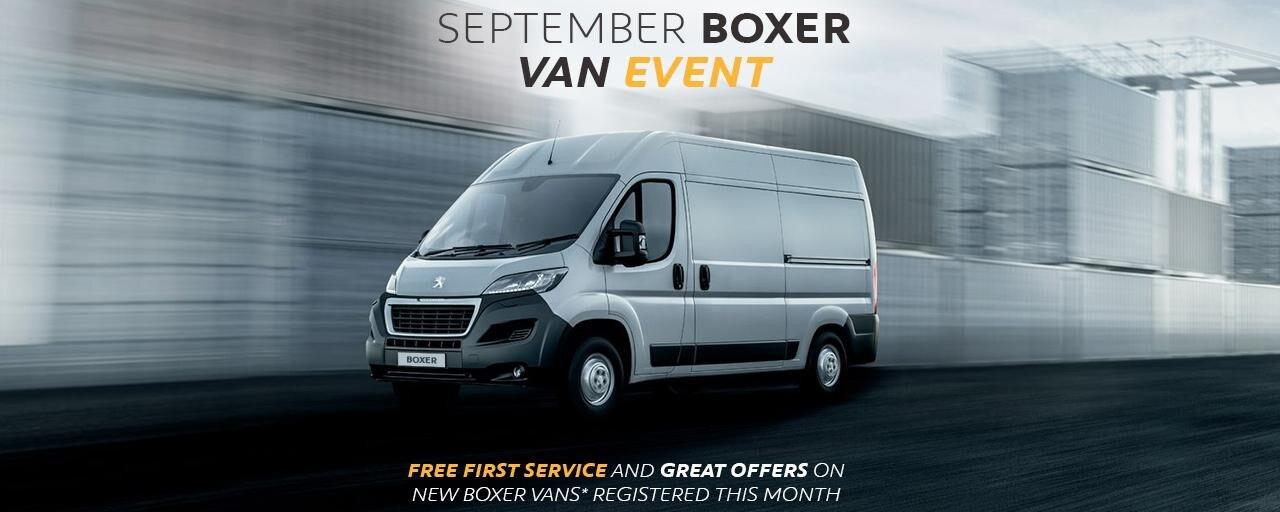 Peugeot Boxer - September Van Event