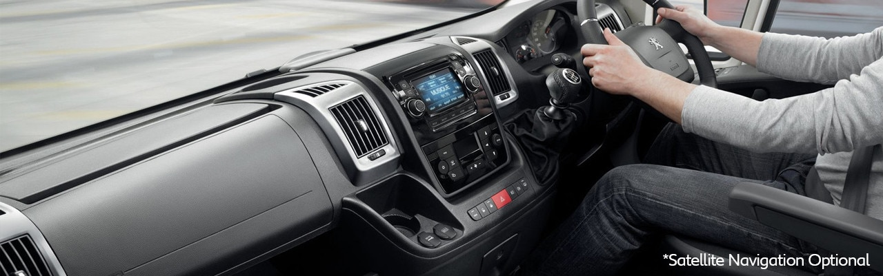 Peugeot Boxer Van Built for Business Interior