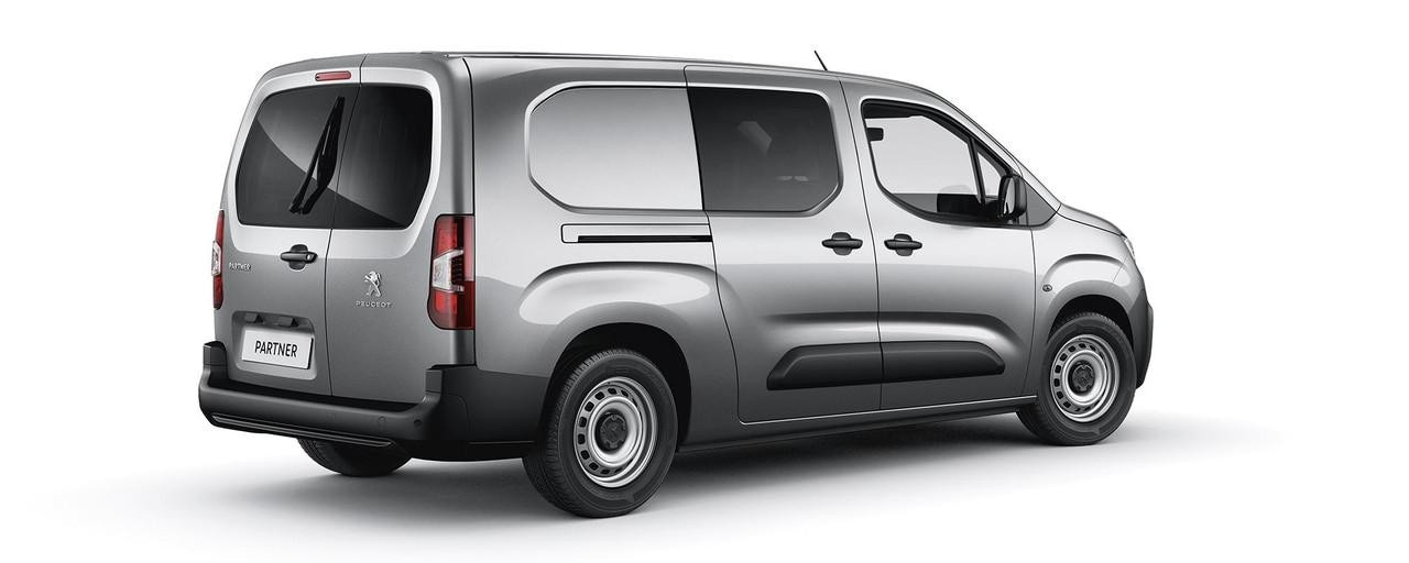 New Peugeot Partner Van - Extended Cab Rear View