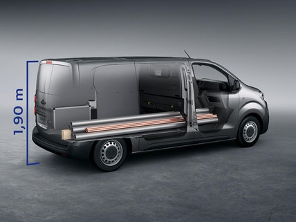 NEW PEUGEOT e-Expert - useful space and payload
