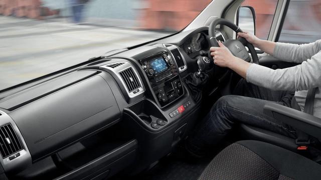 Peugeot Boxer Van cockpit