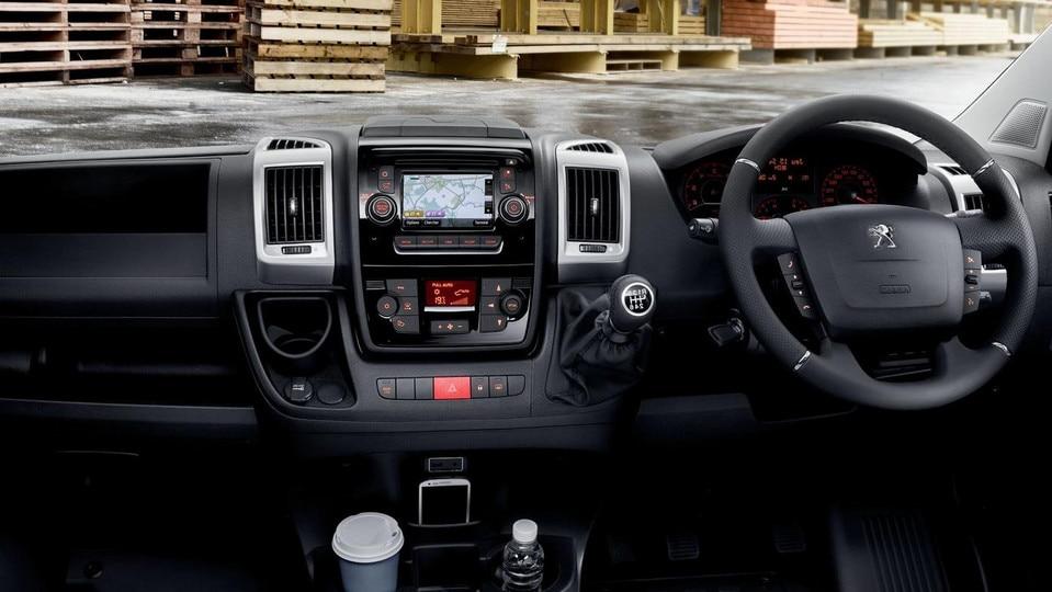 Peugeot Boxer cockpit interior
