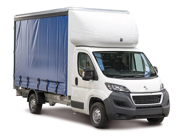 Peugeot Boxer Curtainsider ¾ Front View