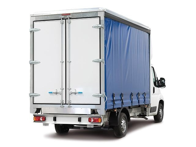 Peugeot Boxer Curtainsider ¾ Rear View