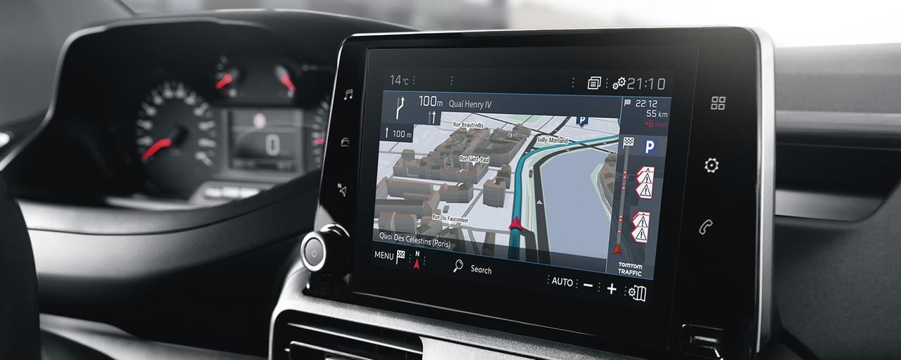 "New Peugeot Partner Van - 8"" Touchscreen & Connected 3D Navigation"