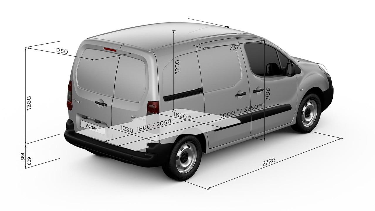 Peugeot Partner load length