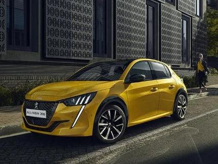 yellow-peugeot-208-driving