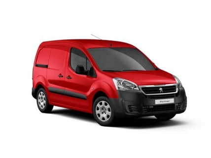 Red Peugeot Partner Van